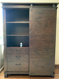 Wood door bookcase with desk for Sale in West Windsor Township,  NJ