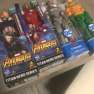 "4 Action Figures 12"" tall DC and Marvel for Sale in Miami, FL"