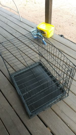 Folding black dog kennel small for Sale in Payson, AZ