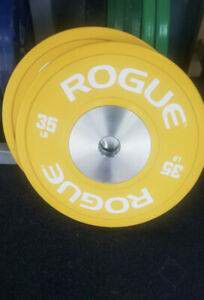 ROGUE Color Training 2.0 plates NEW 35 lb pair (70 lbs total) for Sale in Florham Park, NJ