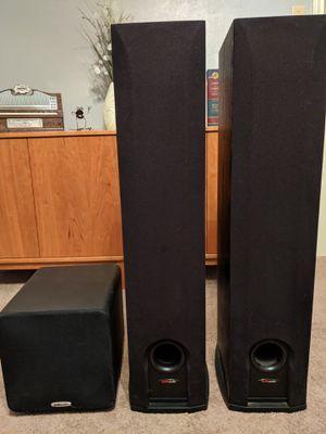Polk Audio Speakers & Sub - Like New for Sale in Arlington, TX