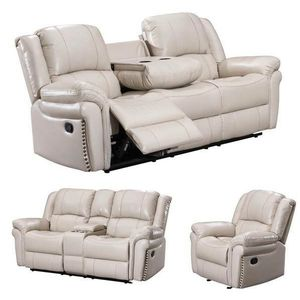 SALE monrose 3pc reclining living room set off-white for Sale in Houston, TX