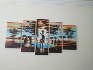 5 Piece African Woman Painting for Sale in Silver Spring, MD