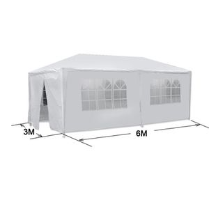 10'x20' White Outdoor Gazebo Canopy Wedding Party Tent 6 Removable Window Walls For Any Occasion for Sale in Henderson, NV