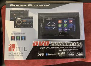 Power acoustic car audio. 6.2 inch double din car stereo . Bluetooth. Dvd . New for Sale in Mesa, AZ