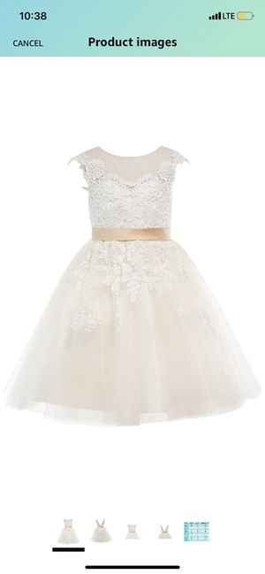 Champagne lace flower girl dresses size 4-5 for Sale in Puyallup, WA