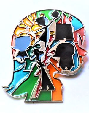 Inside Out Pixar Stained Glass Jumbo Disney Fantasy Pin for Sale in Mission Viejo, CA