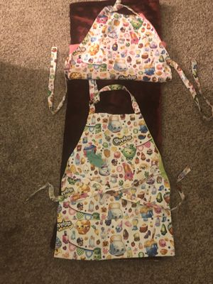 Twins shopkins mommy and me cooking aprons for Sale in Alexandria, VA
