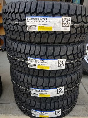 NEW TIRES 10PLY LOAD RANGE E LT 275 70 18 for Sale in Fontana, CA