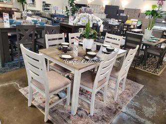 7 PC Whitewash Dining Set, SKU# ASHD394-425TC for Sale in Norwalk,  CA