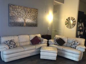 Italian Chateau d'Ax Spa Leather 3-Piece Sofa Set for Sale in Austin, TX