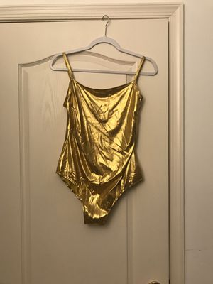 WOMAN gold bodysuit size XL for Sale in Fort Washington, MD