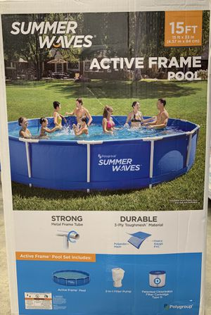 Brand New Summer Waves 15ftx33in Active Frame Pool for Sale in Hackensack, NJ