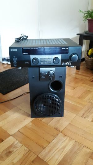 Kenwood home theater stereo system with only subwoofer plays very well $70 for Sale in Lodi, NJ