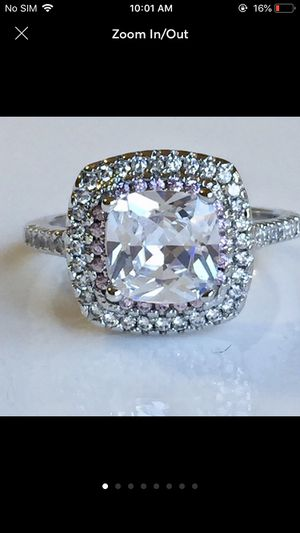 3ct AAA silver wedding engagement ring women's jewelry accessory for Sale in Silver Spring, MD
