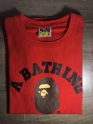 Bape College Tee Red for Sale in West Chicago, IL