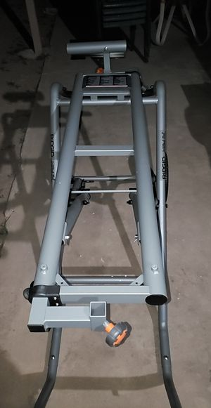 RIDGID Universal Mobile Miter Saw Stand with Mounting Braces for Sale in Phoenix, AZ