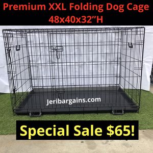 """New xxl 48"""" Premium Folding Wire Dog Cage Kennel Crate Training for Sale in Corona, CA"""