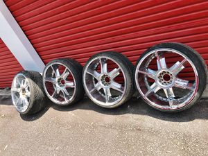 """22"""" Rims universal fits most 5 lug cars for Sale in Lithonia, GA"""