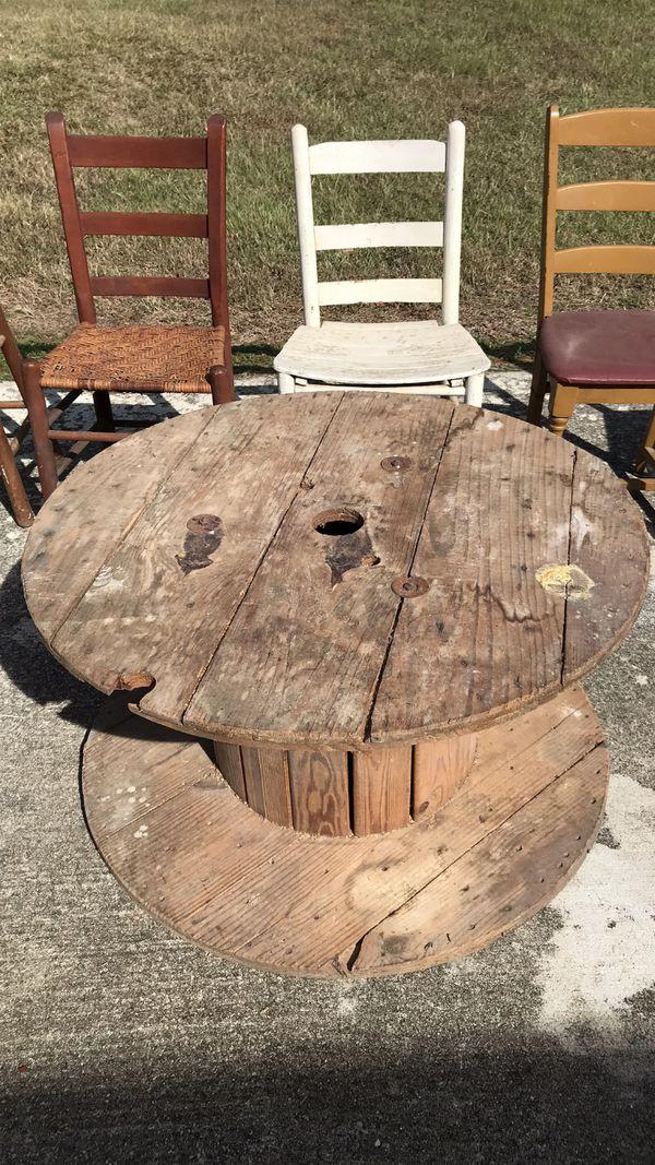 Old wood spool