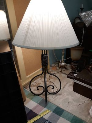 Wrought iron lamp & shade for Sale in Mulberry, FL