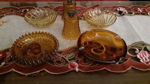 Vintage Amber depression glass items. for Sale in Kingsley, PA