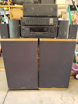 ONKYO STEREO SYSTEM (MARANTZ SPEAKERS) for Sale in Woodville, CA