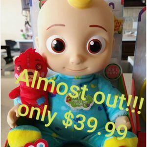 Cocomelon JJ doll talking brand new mini brands watermelon dr set Almost out for Sale in Santa Ana, CA
