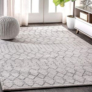 Easy Cleaning Boho Vintage Diamond, Non Shedding Area Rugs, 8 X 10, Cream/Gray for Sale in Fremont, CA