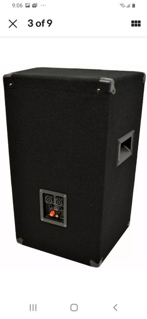 Harmony pro 450w pa cabinet w/cord and stand for Sale in Midland, TX