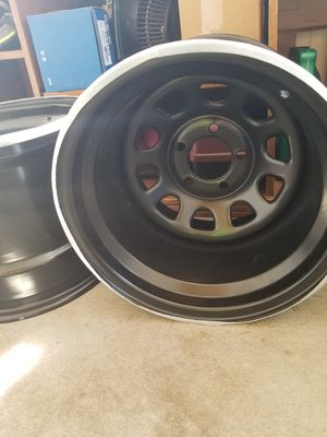 15x12 Black Rock Wheels 5x4.75 for Sale in New Britain, CT