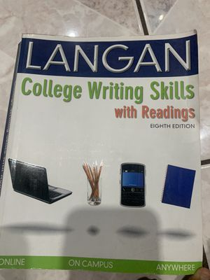 Langan College writing skills with reading 8th edition for Sale in La Puente, CA