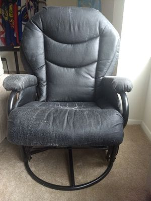 Black leather chair for Sale in Arlington, VA