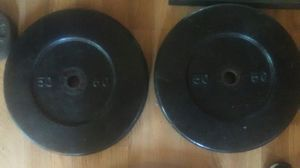 2x 50 pound weight plates for Sale in Huntington Park, CA