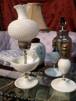 Vintage White Glass Lamps Bundle for Sale in Carrollton,  TX