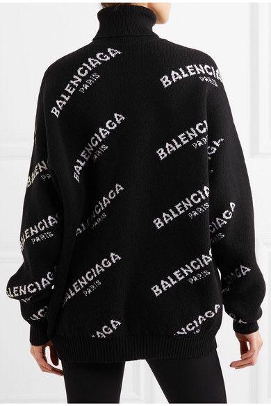 Balenciaga OVERSIZE TURTLENECK SWEATER Size:S Pre-own