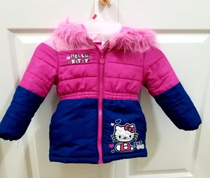 Hello kitty Puffer Jacket with Fur Trim Hood ,2t for Sale in Lynnwood, WA