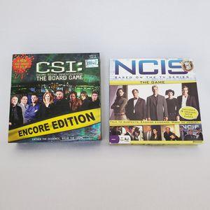 CSI (Encore Edition) & NCIS BOARD GAMES for Sale in Las Vegas, NV