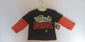 "NWT boys size 12M ""WICKEDLY HANDSOME"" Halloween shirt for Sale in Tacoma, WA"