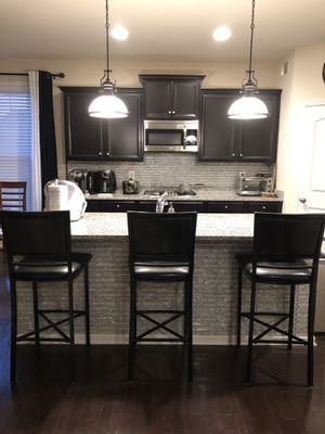 3 Bar Stools - Black for Sale in Bowie, MD