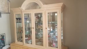 Solid wood china hutch for Sale in Naperville, IL