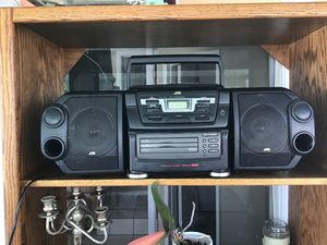JVC PC - XC 12 CD Portable Component System AM/ FM Double Cassette Triple Tray Changer with Detachable Speakers for Sale in Downey, CA