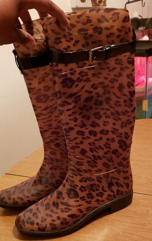 Womens Ralph Lauren Leopard Print Rain Boots size 9 for Sale in Newark, DE
