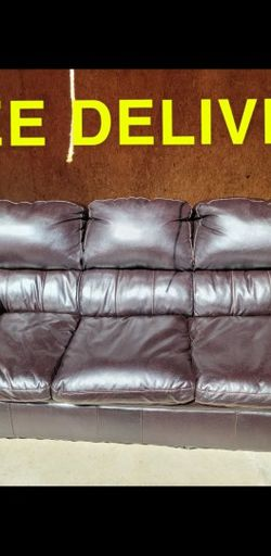 Black Leather Sofa And Recliner for Sale in Norcross,  GA