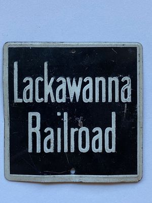 Vintage Lackawanna Railroad Sign Measures: 3 in x 3in for Sale in Tucson, AZ