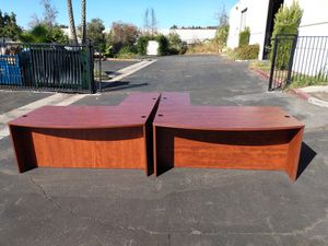 8 excellent matching cherry L shaped desks with bow front!! for Sale in Santa Ana, CA