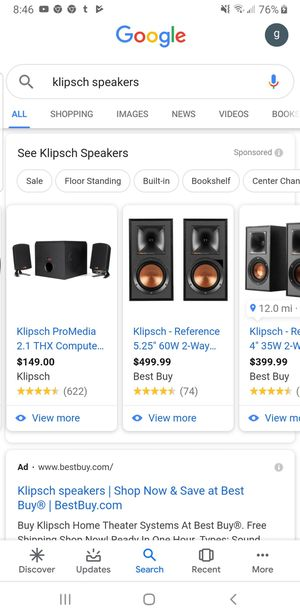 KLIPSCH PROMEDIA 2.1 THX® CERTIFIED COMPUTER SPEAKER (# 1067415) for Sale in Manassas, VA