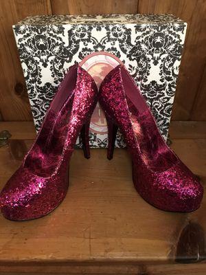 Bordello Pink Glitter Platform Heel size 11 for Sale in Claremont, CA