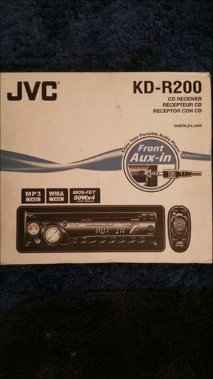 JVC Portable audio Car Player. Removable face & remote for Sale in Alexandria, VA