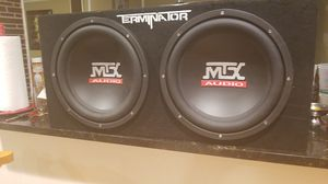 Subwoofer Box 12 Inch Sub Dual MTX Audio Terminator Series TNP212D2 Enclosur for Sale in MD CITY, MD